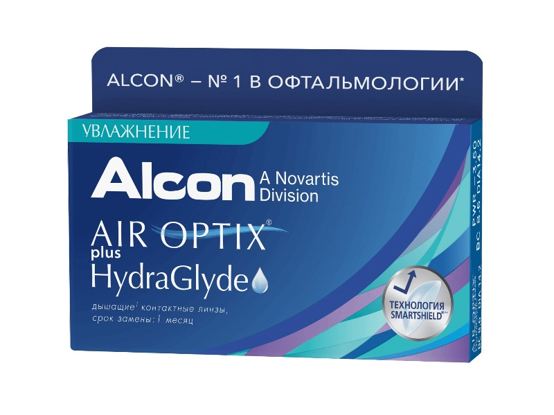 контактные линзы Air Optix plus Hydra Glyde (6 линз)
