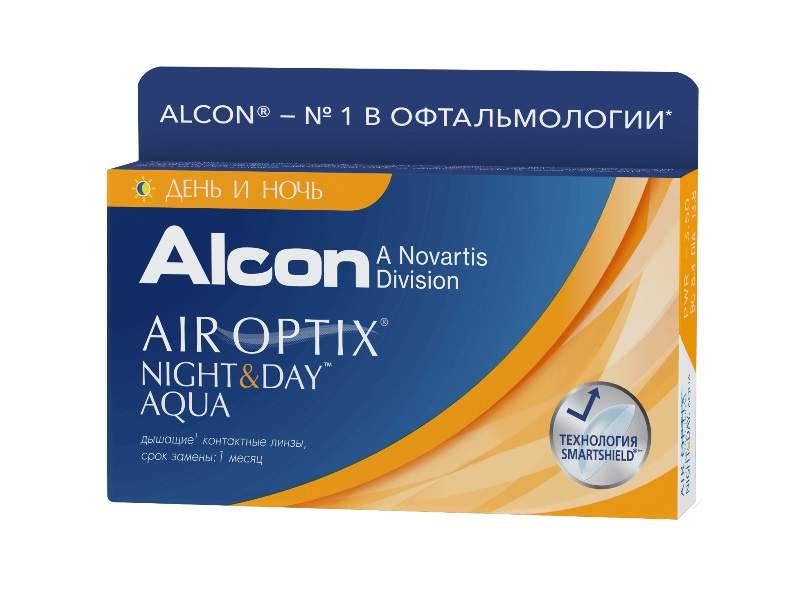контактные линзы Air Optix Night & Day Aqua (3 шт.)