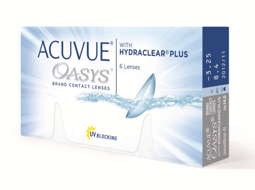 контактные линзы Acuvue Oasys with Hydraclear Plus (6 шт.)
